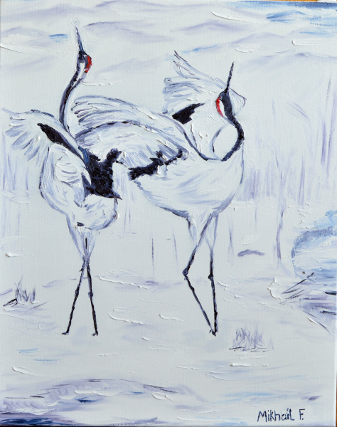 Japanese Dancing Cranes