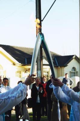 Handing on the flame - torch relay 2000