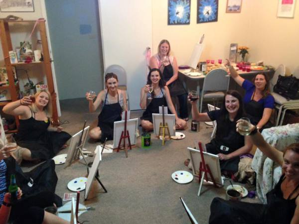 paint, paint and sip, paint party, paint class, fun, private party, girls night, hens night, birthday