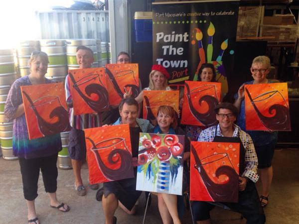 paint, paint and sip, paint party, paint class, fun, team building, corporate events