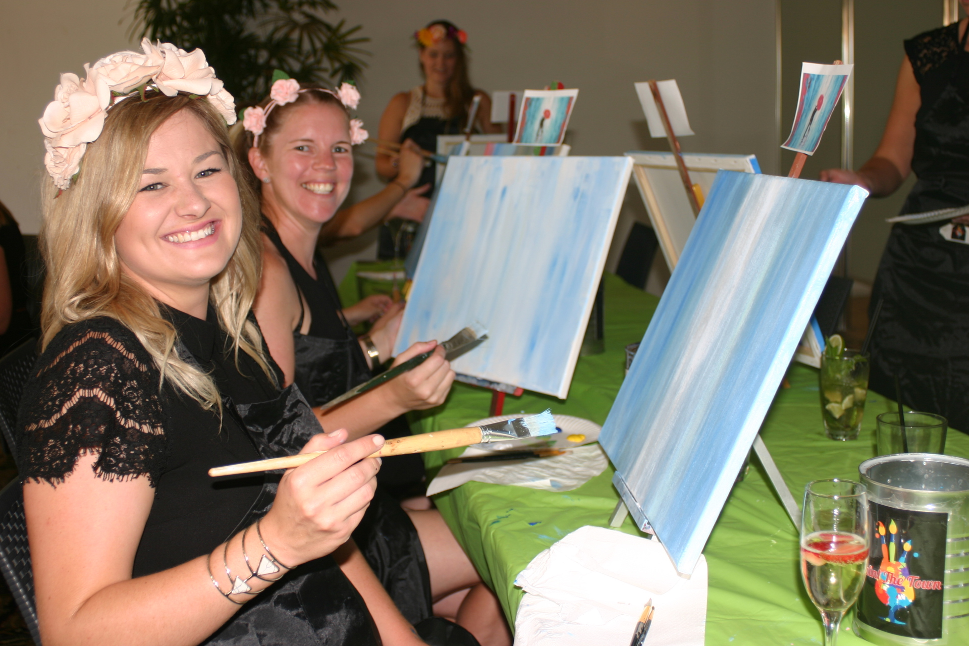 paint, paint and sip, paint party, paint class, fun, hens night, birthdays