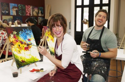 paint, paint and sip, paint party, paint class, fun, team building