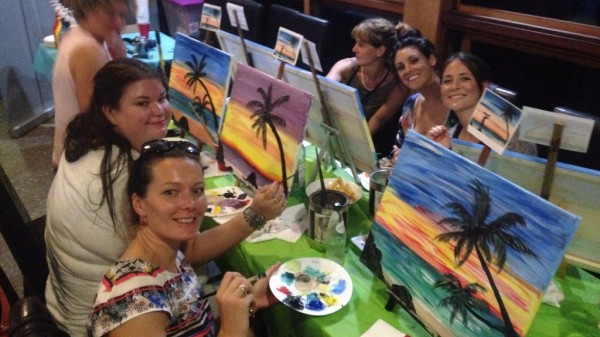 paint, paint and sip, paint party, paint class, fun