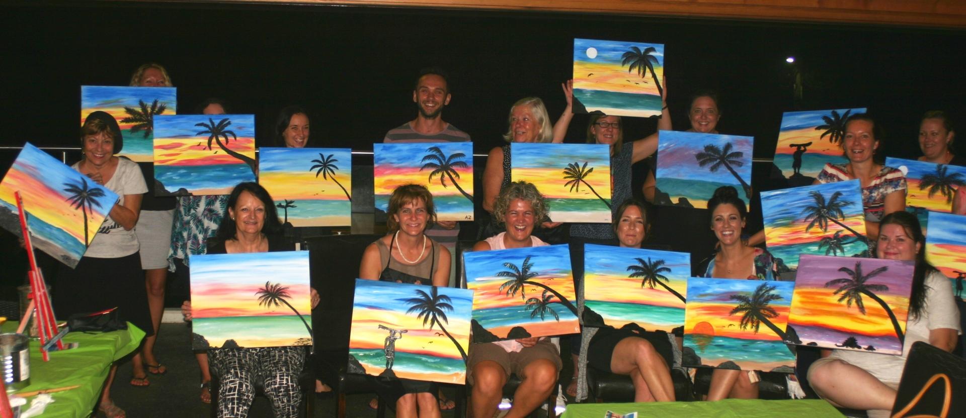 Paint & Sip Parties!