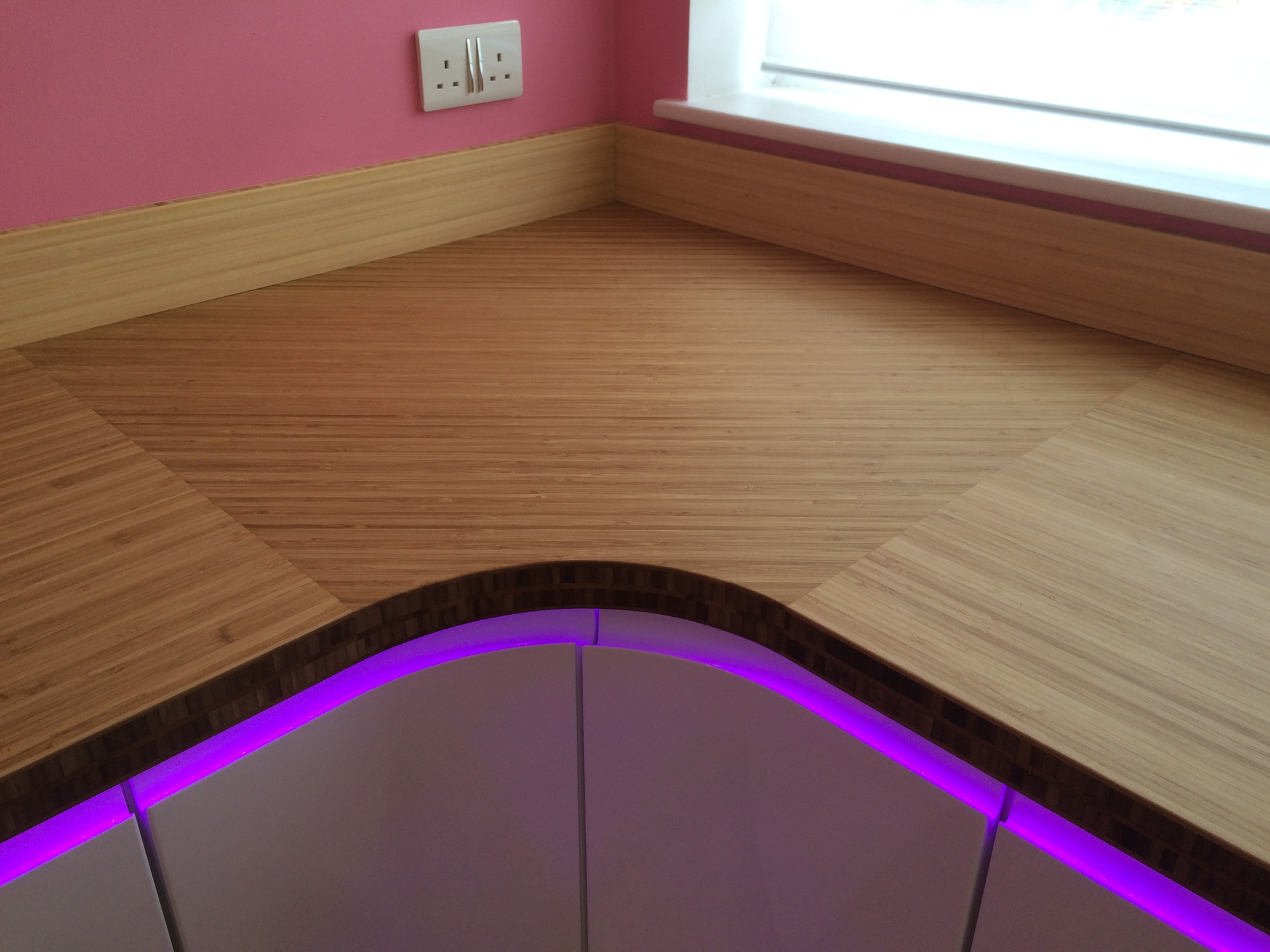 Bamboo solid wood kitchen worktops