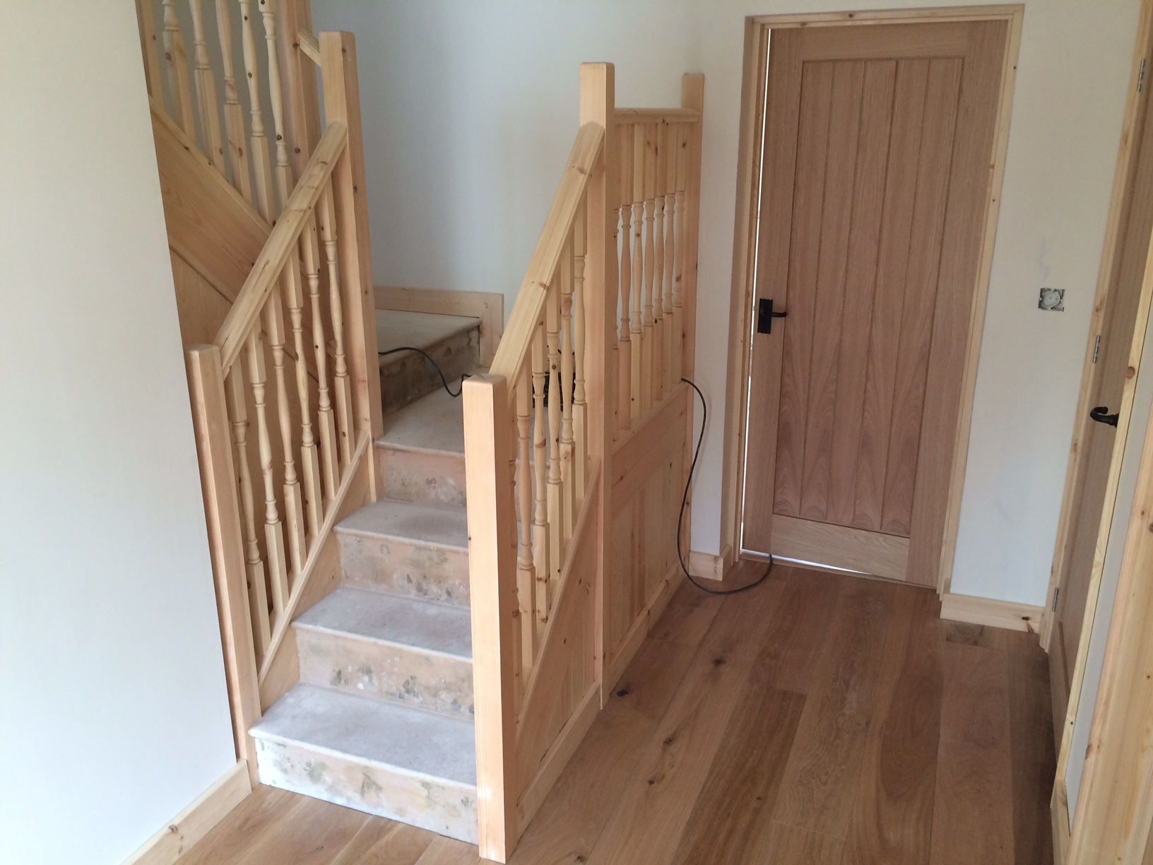 Pine Staircase with Oak Flooring