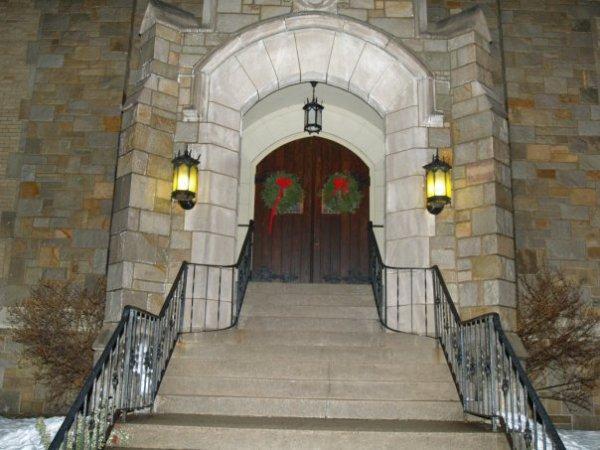 Front Entrance at Christmas
