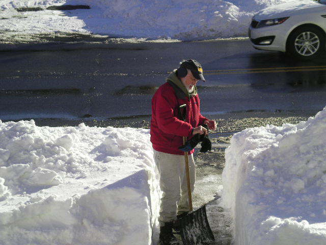 Jim Hibbert Shoveling After Blizzard January 2015