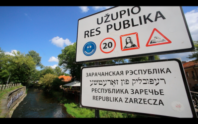 Užupis Republic - entry sign