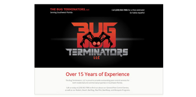 New Website Live - Bug Terminators