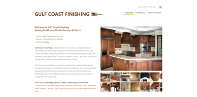 New Website Live - Gulf Coast Finishing