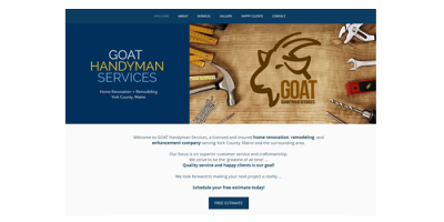 New Website Live, Business Cards & Apparel - GOAT Handyman Services