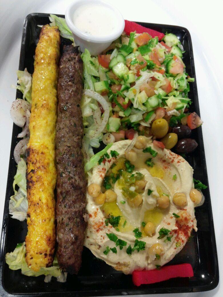 Mix Kufta beef & chicken kabob plate