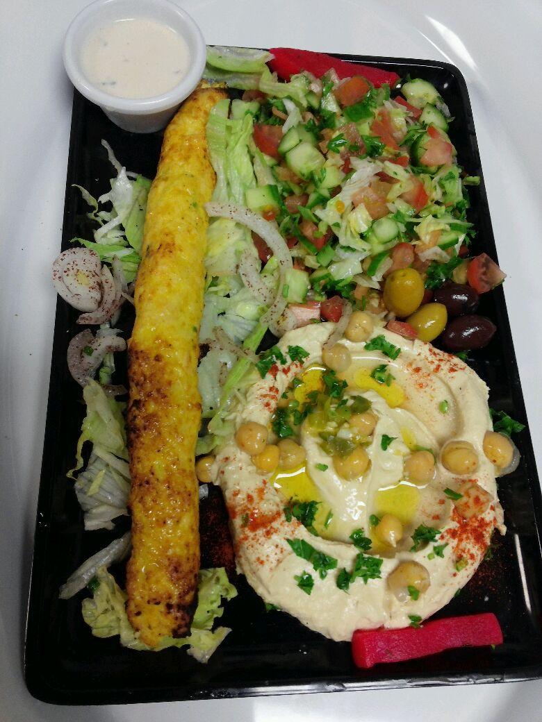 Kufta Chicken Kabob Plate