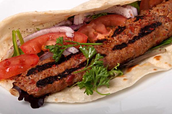 Kufta Beef Kabob Sandwich