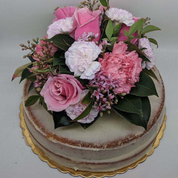 Fresh Pink, White & Green Flower Topper