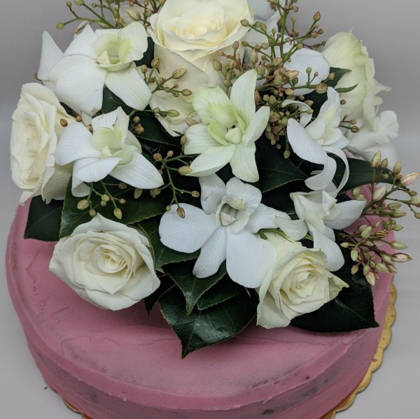 Fresh White & Green Flower Topper