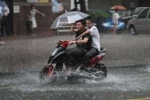 Rainy weather riding