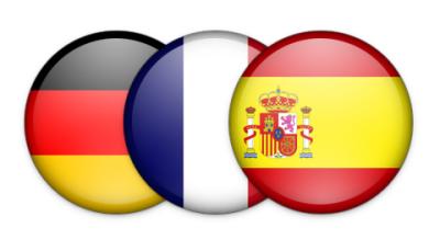 French Spanish German