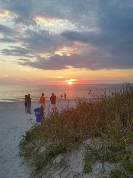 view of sunset at indian rocks beach