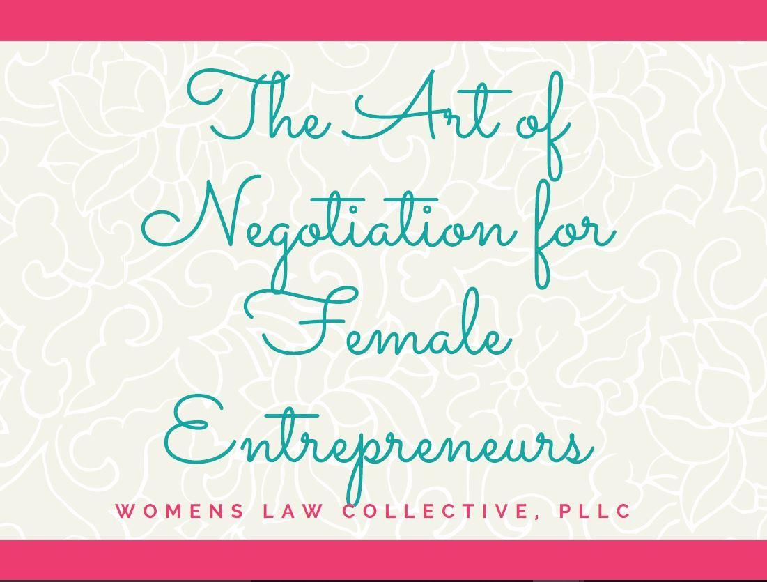 Art of Negotiation for Female Entrepreneurs