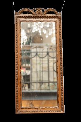 Antieke houten spiegel La Folie antiek
