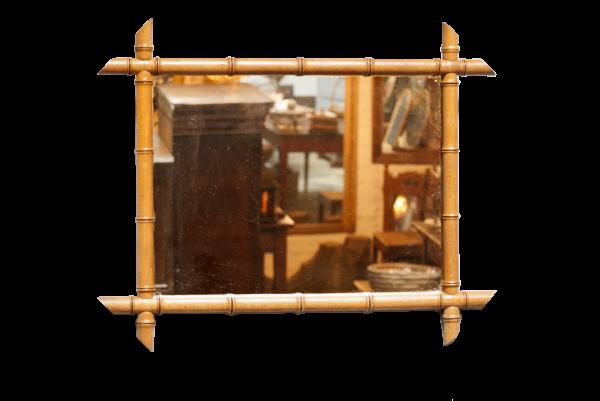 Antieke bamboe spiegel la folie antiek den bosch 's-Hertogenbosch Noord-Brabant
