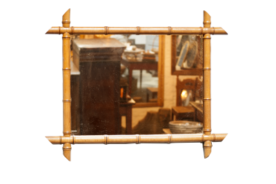 Antieke bamboe spiegel la folie antiek den bosch 's-Hertogenbosch
