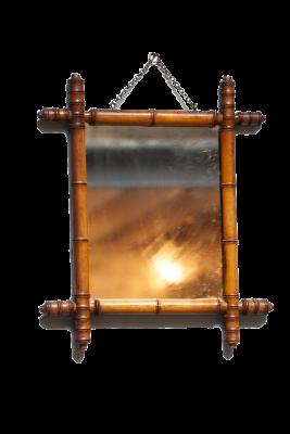 Antieke bamboe spiegel Parijs 1900 hip in de mode warm chique la folie antiek den bosch 's-Hertogenbosch Noord-Brabant nederland bamboo mirror paris