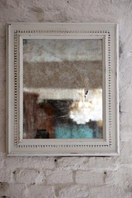 Antieke fanse spiegel la folie antiek den bosch 's-Hertogenbosch vintage spiegel wit badkamer spiegel vintage