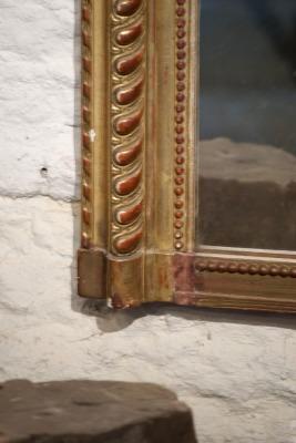 Grote antieke franse spiegel la folie antiek den bosch 's-hertogenbosch noord-brabant nederland winkel antiek vintage brocante kroonluchters grote tafels verguld vergulding goud