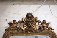 Grote franse antieke spiegel den bosch 's-Hertogenbosch nederland noord brabant brocante vintage antique mirror french kroonluchters