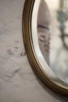 Ovale antieke vergulde spiegel la folie antiek den bosch 's-Hertogenbosch shertogenbosch nederland noord-brabant brabant antique oval mirror