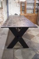 Grote antieke tafel la folie antiek den bosch 's-hertogenbosch mooie grote vintage tafel kloostertafel robuuste lange tafel
