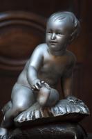 antiek engelen beeld la folie antiek den bosch nederland noord-brabant 's-hertogenbosch engelenbeeld vintage angel statue antique silver bebe au coussins