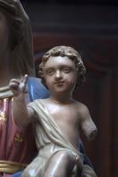 madonna met kind vlaanderen 1800 lindenhout antiek katholiek beeld la folie antiek nederland den bosch 's-hertogenbosch