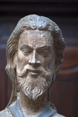Johannus de doper houten beeld la folie antiek den bosch standbeeld 13e eeuw na christus johannus de doper nederland 13th sentury statue christian statue 800 years old antiek standbeeld 800 jaar oud
