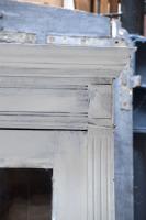 Grote franse vitrine kast antiek glas elegant eiken houten vitrine kast barok glas vintage Antieke houten kast La Folie Antiek den bosch 's-hertogenbosch vintage tafels hele grote vintage kast nederland