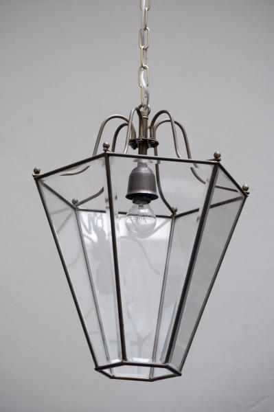 antieke franse lantaarn 1920 noord-brabant den bosch kroonluchters lampen industriele lampen den bosch la folie antiek art deco mooi subtiel koper en glas glazen facetten