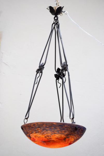 Noverdy France lamp kroonluchter art nouveau 1925 la folie antiek den bosch nederland noord-brabant