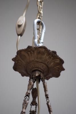 Pâte de Verre Noverdy France stijl glazen hanglamp Frankrijk 1925 la folie antiek den bosch nederland noord brabant design hanglamp ketting
