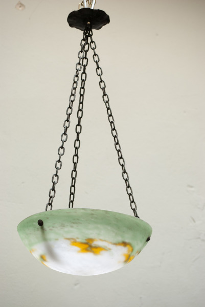 Muller Fres luneville hanglamp pate de verre design lamp nederland la folie antiek den bosch