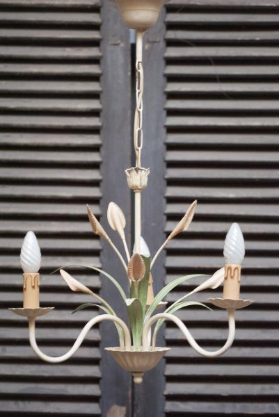 antieke kroonluchter kopen mooie franse kroonluchter met bloemen en bladeren