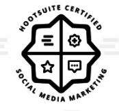 Clara Dennison holds the Hootsuite Social Media Marekting Certification