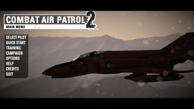CAP2 flight simulator screenshot showing f4 Phantom