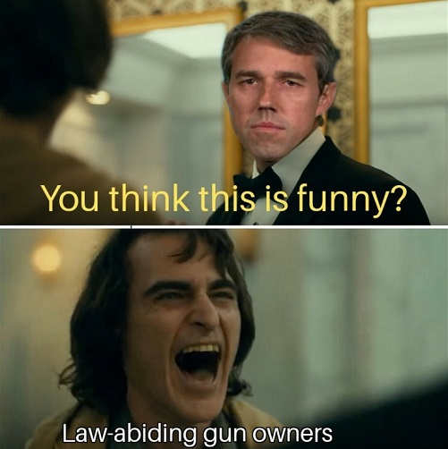 beto-orourke-you-think-this-is-funny-gun
