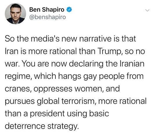tweet-ben-shapiro-media-narrative-iran-m