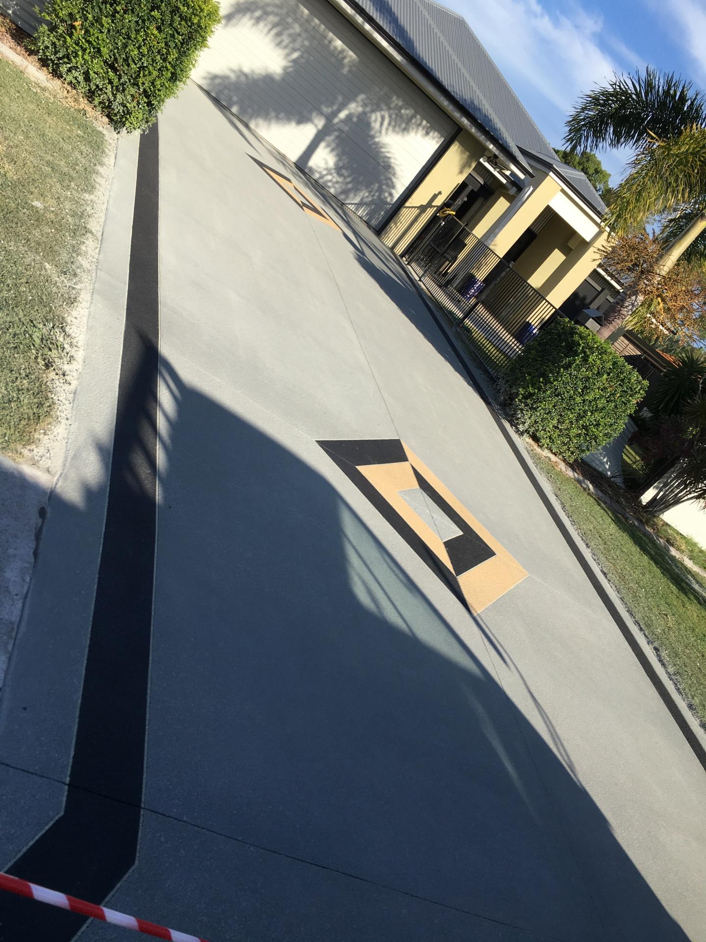 Spray down Driveway