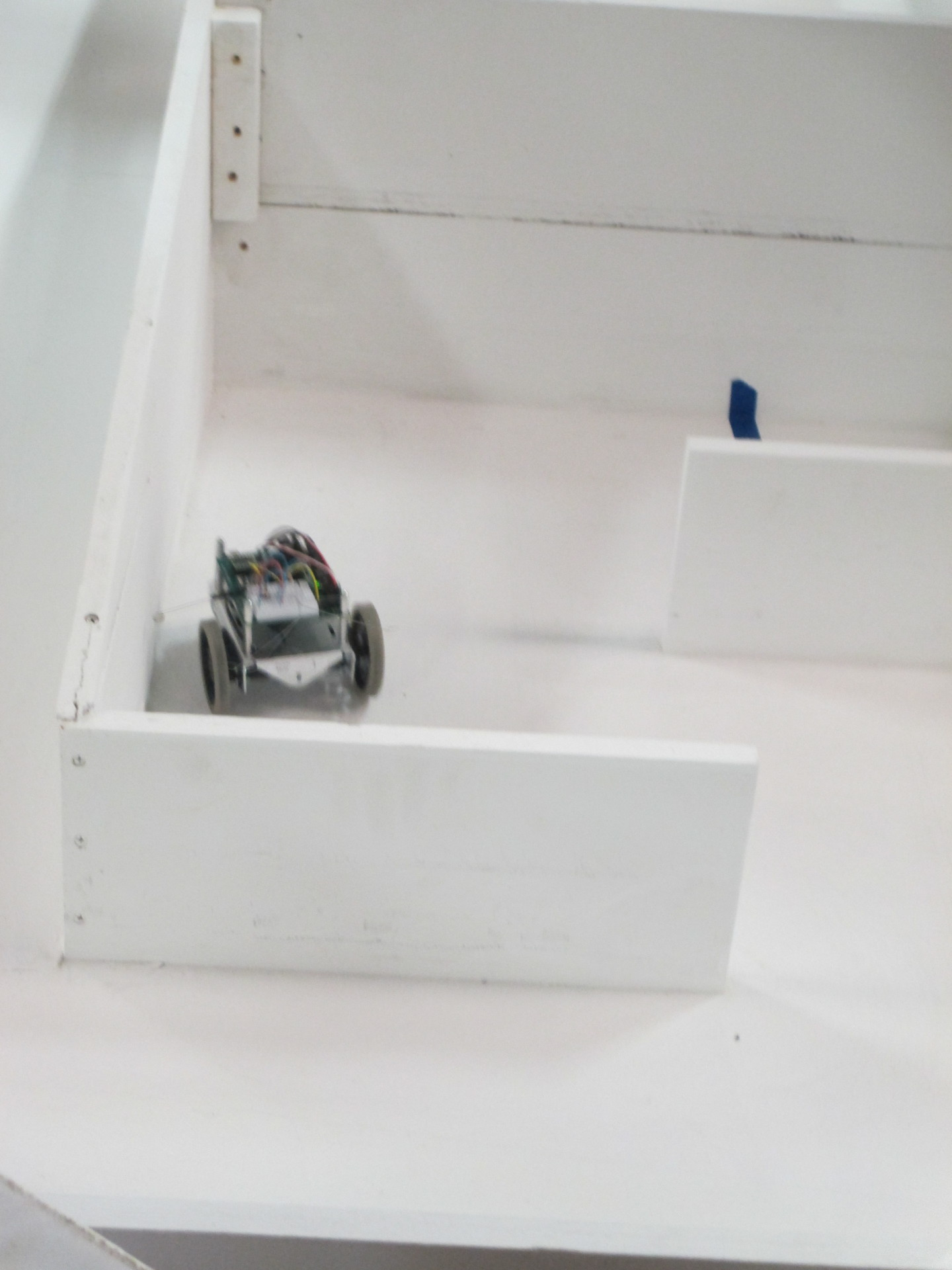 A tactile maze bot making its way through the maze