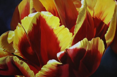 Floral in Flames - SOLD